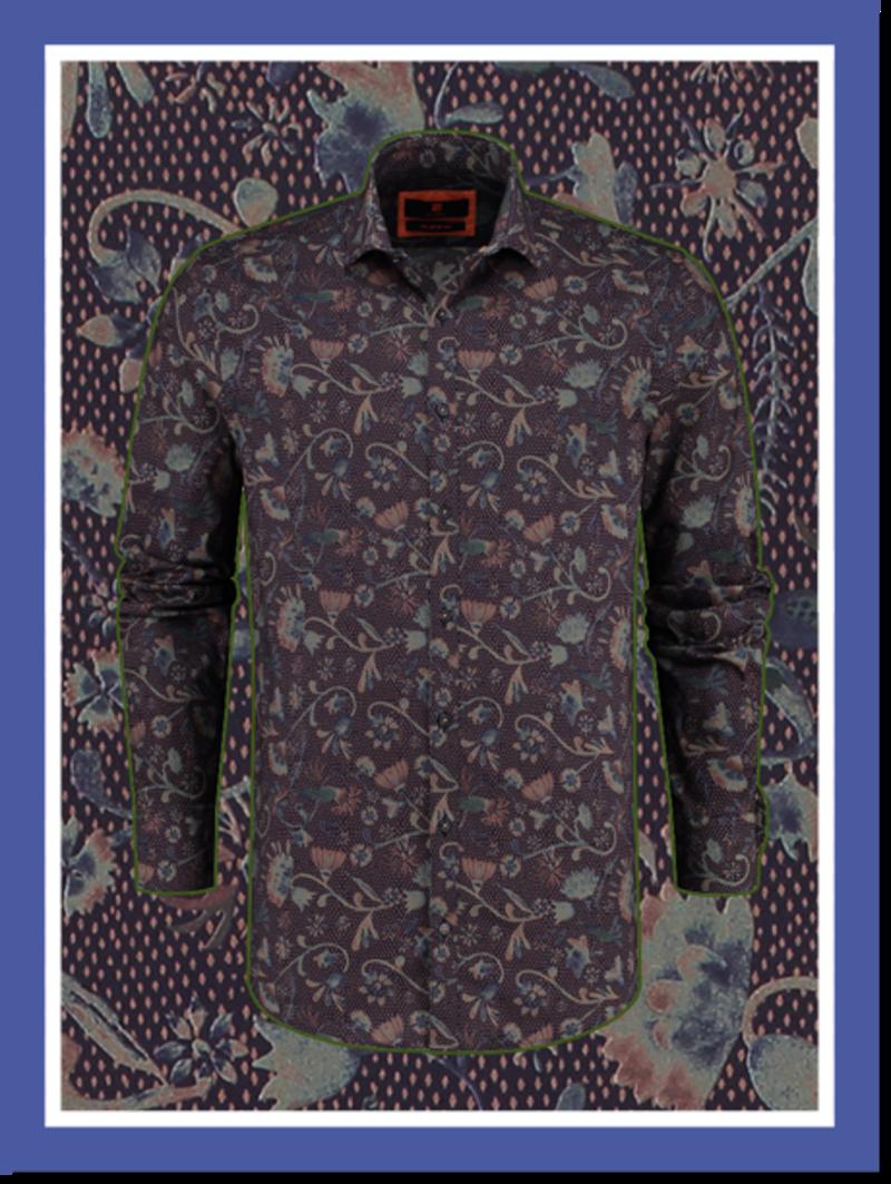 Overhemd Midnight Stems