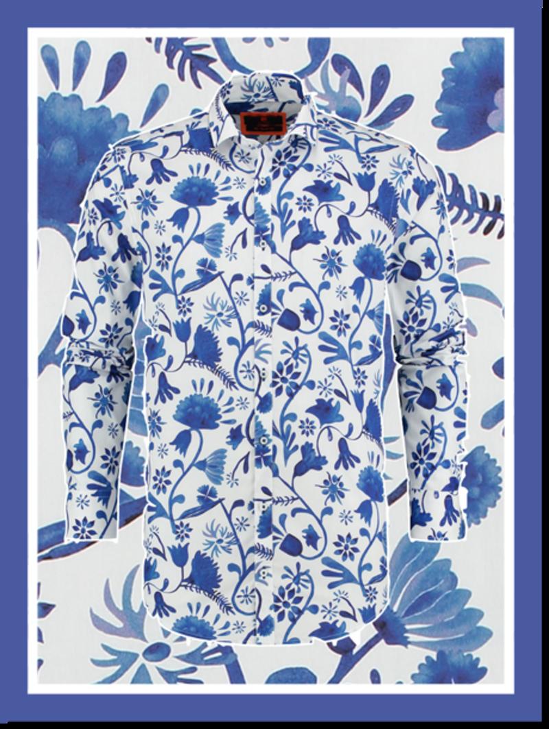 Overhemd Blue Blossom