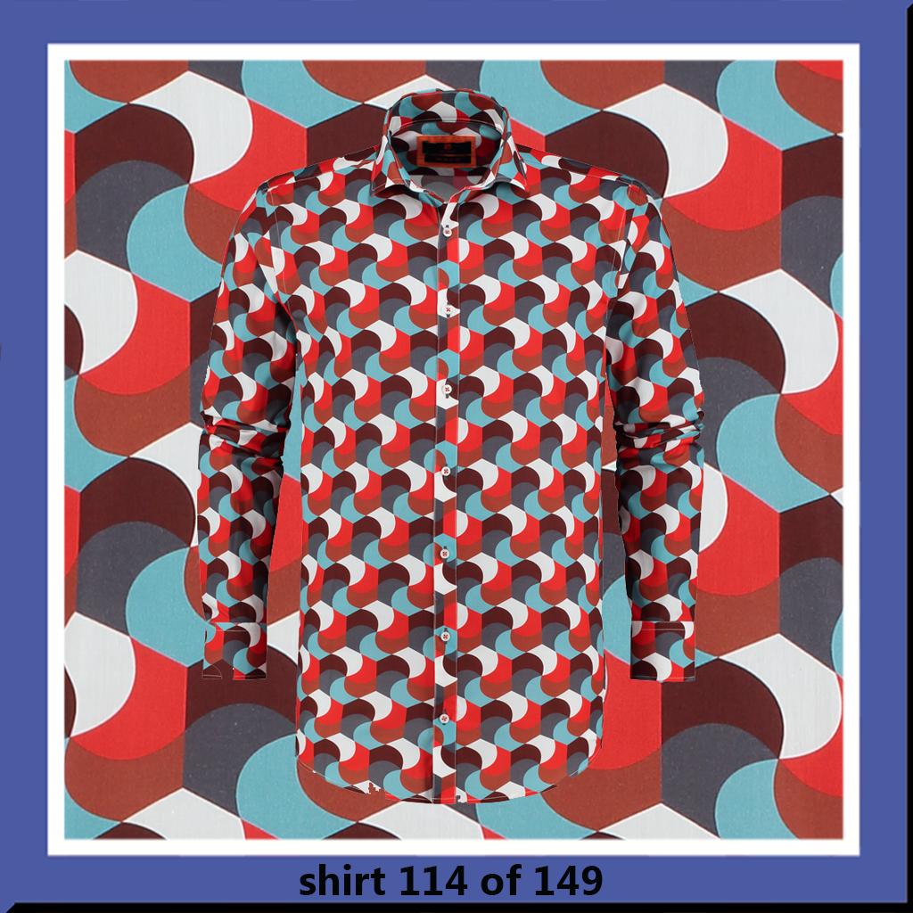 bb chum overhemd met retro print Red Whisper