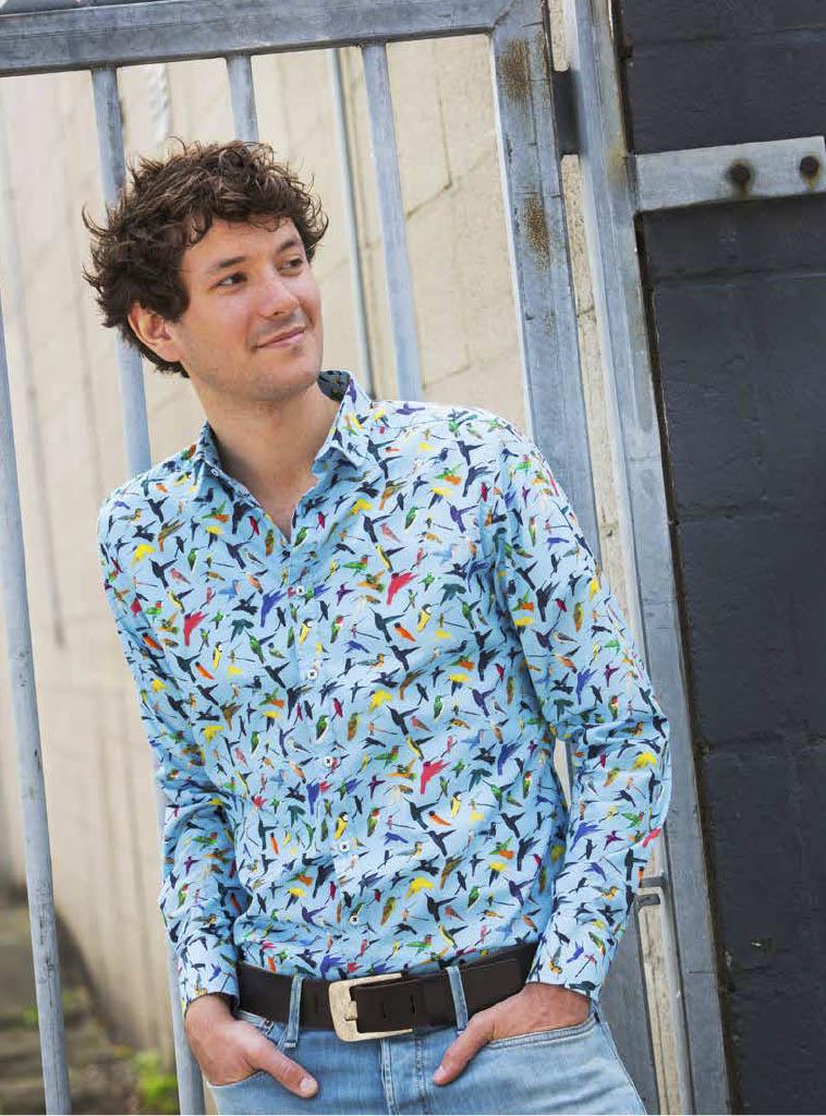 bb chum kleurrijk overhemd met print