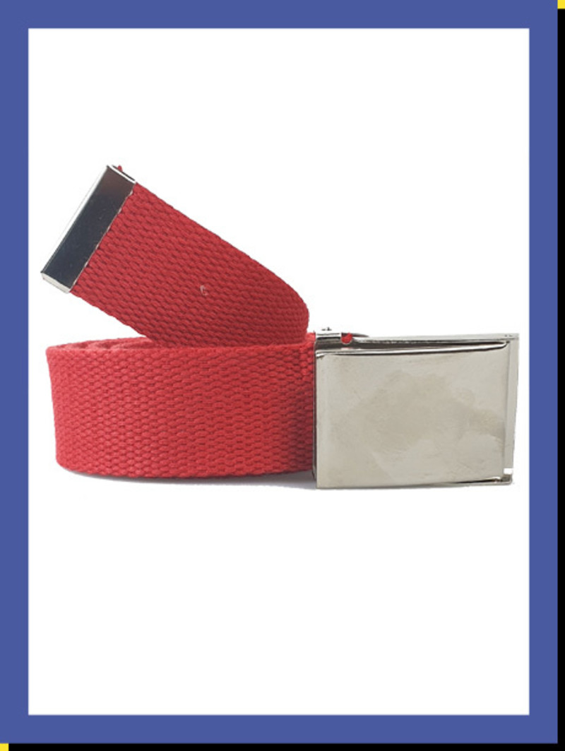 Canvas riem Red Rattle