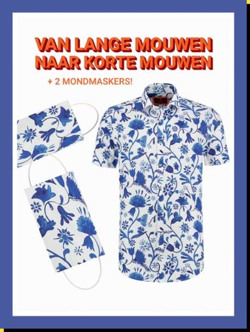 Overhemd Blue Blossom km