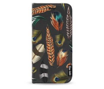 Feathers Multi - Wallet Case Black Samsung Galaxy J3 (2017)