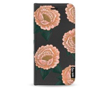 Winterly Flowers - Wallet Case Black Samsung Galaxy J3 (2017)