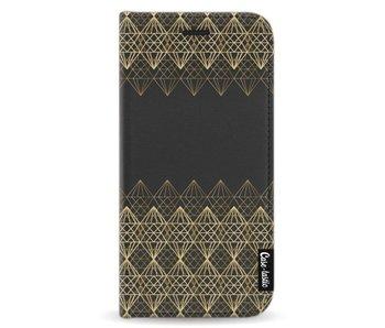 Golden Diamonds - Wallet Case Black Samsung Galaxy J3 (2017)
