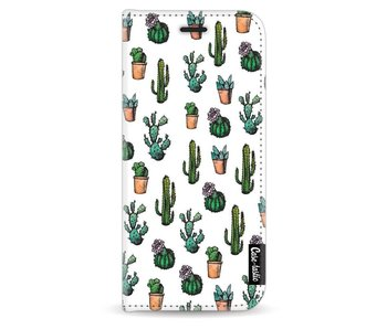 Cactus Dream - Wallet Case White Samsung Galaxy S9