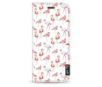 Flamingo Party - Wallet Case White Samsung Galaxy S9