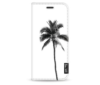Palm Tree Transparent - Wallet Case White Samsung Galaxy S9