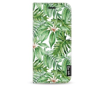 Transparent Leaves - Wallet Case White Samsung Galaxy S9