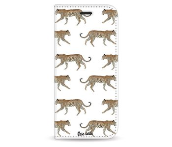 Hunting Leopard - Wallet Case White Samsung Galaxy S9