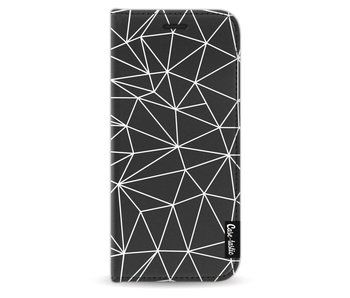 So Many Lines! White - Wallet Case Black Samsung Galaxy S9