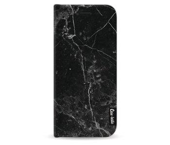 Black Marble - Wallet Case Black Samsung Galaxy S9