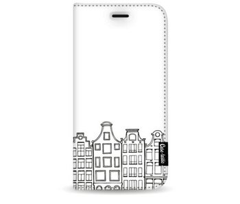 Amsterdam Canal Houses - Wallet Case White Samsung Galaxy S9 Plus