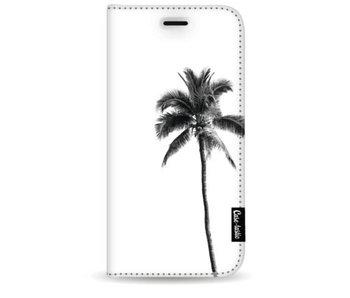Palm Tree Transparent - Wallet Case White Samsung Galaxy S9 Plus