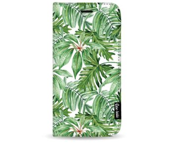 Transparent Leaves - Wallet Case White Samsung Galaxy S9 Plus
