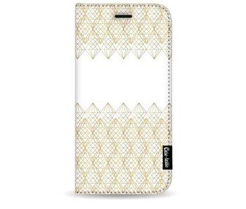 Golden Diamonds - Wallet Case White Samsung Galaxy S9 Plus