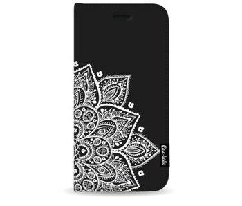 Floral Mandala White - Wallet Case Black Samsung Galaxy S9 Plus