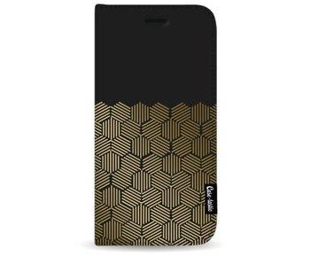 Golden Hexagons - Wallet Case Black Samsung Galaxy S9 Plus
