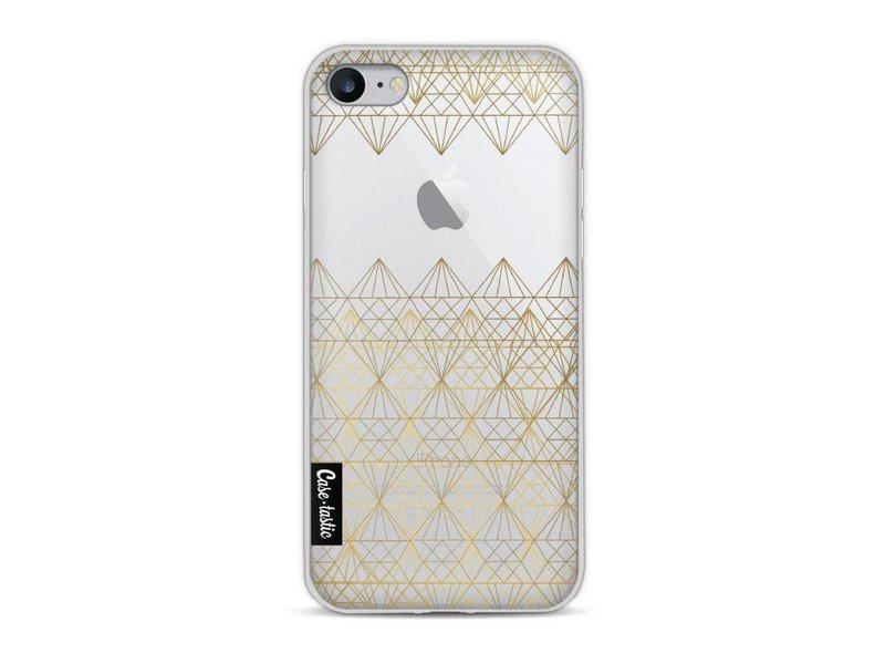 Casetastic Softcover Apple iPhone 8 - Golden Diamonds