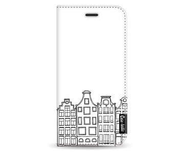 Amsterdam Canal Houses - Wallet Case White Samsung Galaxy A8 (2018)