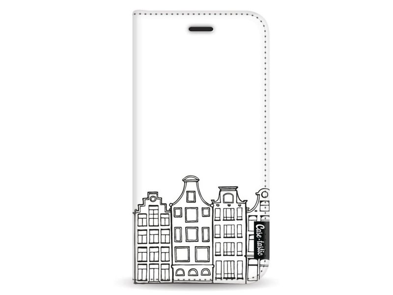 Casetastic Wallet Case White Samsung Galaxy A8 (2018) - Amsterdam Canal Houses