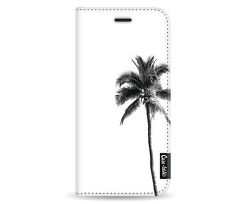 Palm Tree Transparent - Wallet Case White Samsung Galaxy A8 (2018)