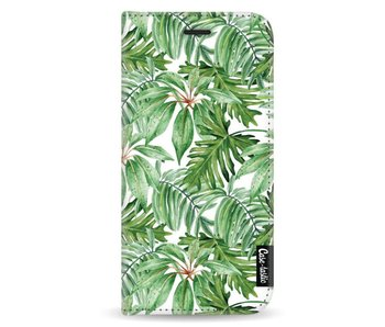 Transparent Leaves - Wallet Case White Samsung Galaxy A8 (2018)