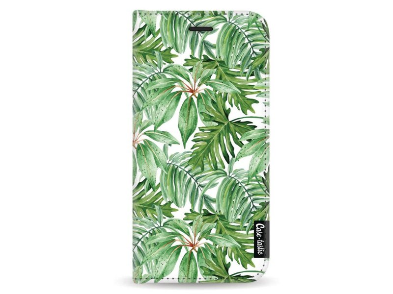 Casetastic Wallet Case White Samsung Galaxy A8 (2018) - Transparent Leaves