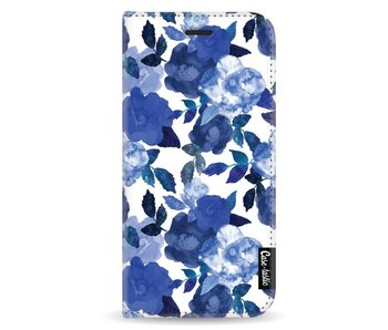 Royal Flowers - Wallet Case White Samsung Galaxy A8 (2018)