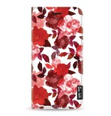 Casetastic Wallet Case White Samsung Galaxy A8 (2018) - Royal Flowers Red