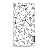 Casetastic Wallet Case White Samsung Galaxy A8 (2018) - So Many Lines! Black