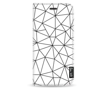 So Many Lines! Black - Wallet Case White Samsung Galaxy A8 (2018)
