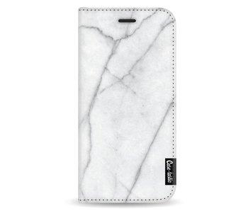 White Marble - Wallet Case White Samsung Galaxy A8 (2018)
