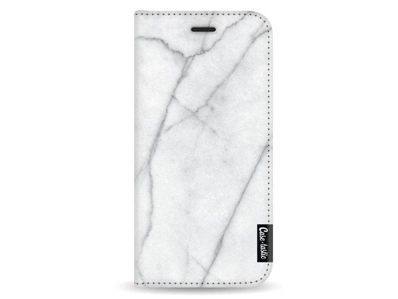 Casetastic Wallet Case White Samsung Galaxy A8 (2018) - White Marble