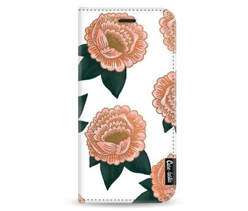 Winterly Flowers - Wallet Case White Samsung Galaxy A8 (2018)