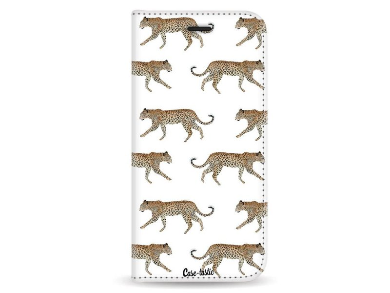 Casetastic Wallet Case White Samsung Galaxy A8 (2018) - Hunting Leopard