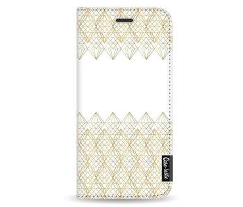 Golden Diamonds - Wallet Case White Samsung Galaxy A8 (2018)