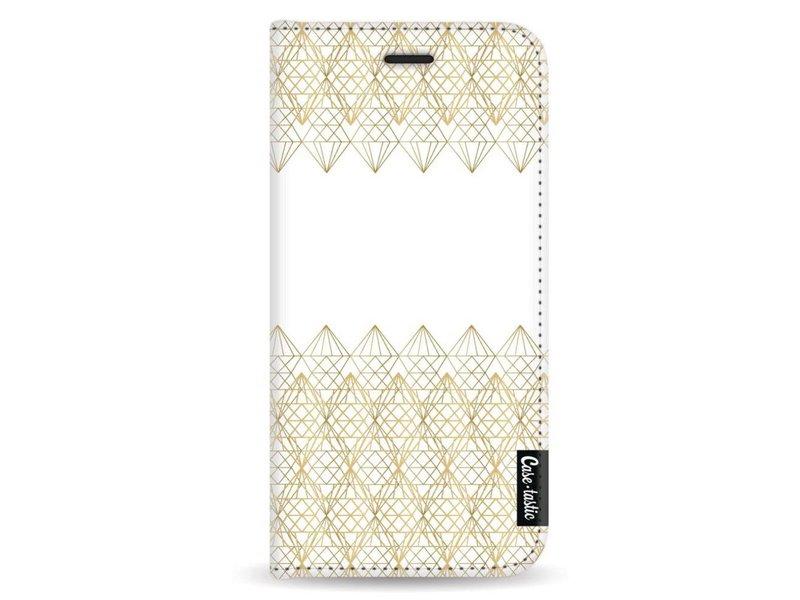 Casetastic Wallet Case White Samsung Galaxy A8 (2018) - Golden Diamonds