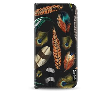 Feathers Multi - Wallet Case Black Samsung Galaxy A8 (2018)