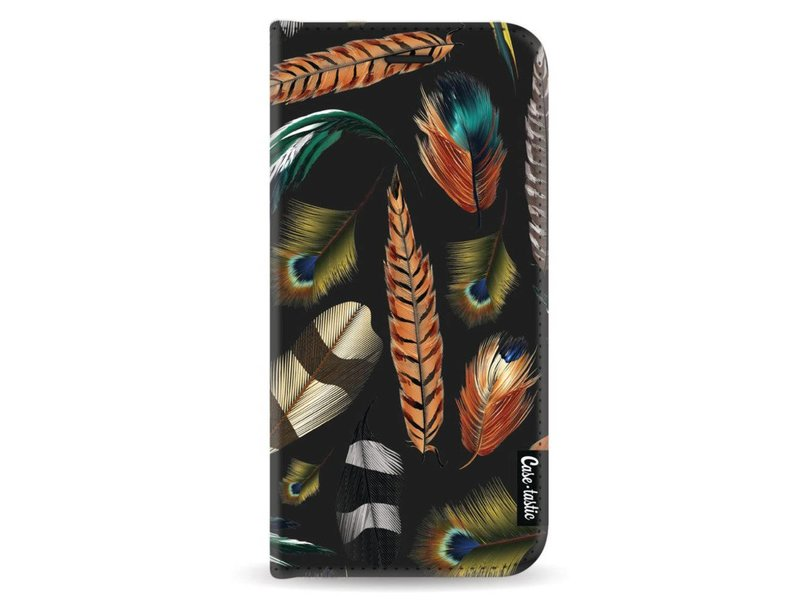 Casetastic Wallet Case Black Samsung Galaxy A8 (2018) - Feathers Multi