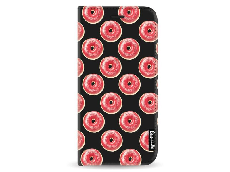 Casetastic Wallet Case Black Samsung Galaxy A8 (2018) - All The Donuts