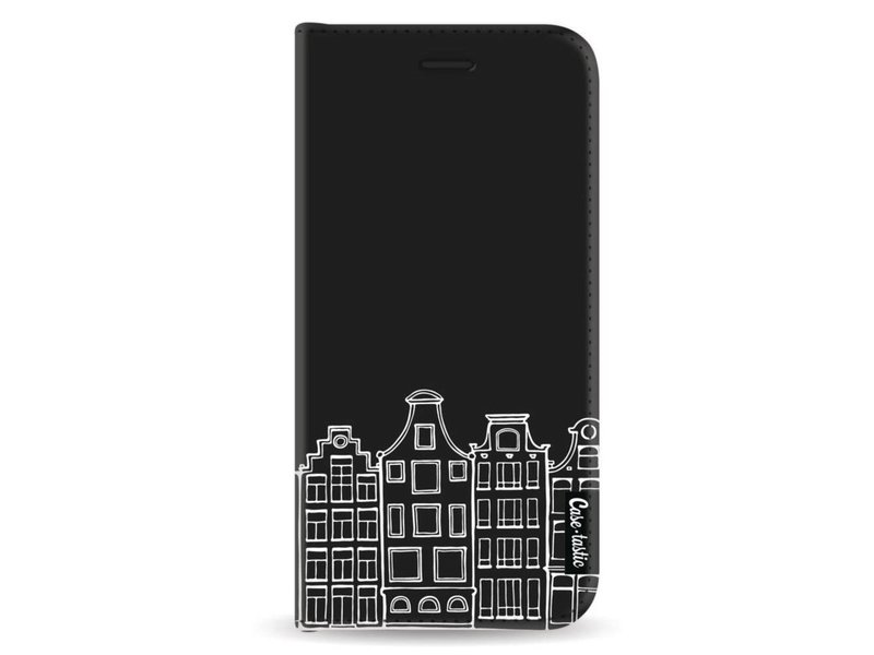 Casetastic Wallet Case Black Samsung Galaxy A8 (2018) - Amsterdam Canal Houses White