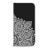 Casetastic Wallet Case Black Samsung Galaxy A8 (2018) - Floral Mandala White