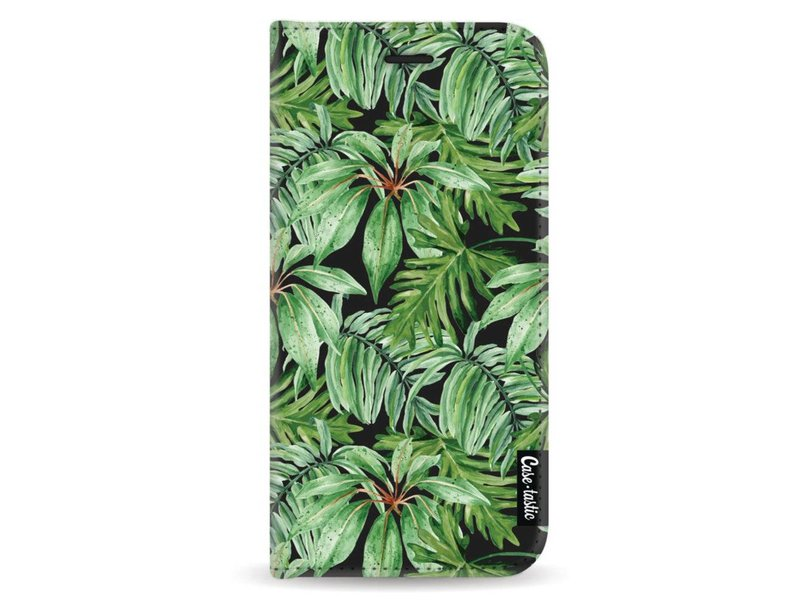 Casetastic Wallet Case Black Samsung Galaxy A8 (2018) - Transparent Leaves