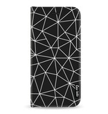 Casetastic Wallet Case Black Samsung Galaxy A8 (2018) - So Many Lines! White