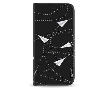 Paperplanes - Wallet Case Black Samsung Galaxy A8 (2018)