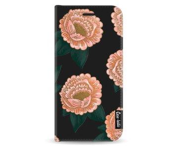 Winterly Flowers - Wallet Case Black Samsung Galaxy A8 (2018)