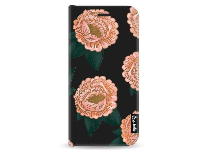 Casetastic Wallet Case Black Samsung Galaxy A8 (2018) - Winterly Flowers