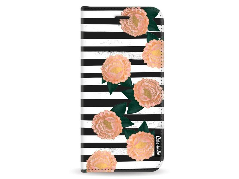 Casetastic Wallet Case Black Samsung Galaxy A8 (2018) - Striped Winter Flowers