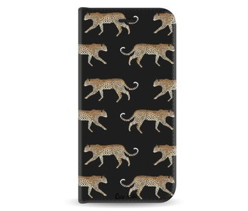 Hunting Leopard - Wallet Case Black Samsung Galaxy A8 (2018)
